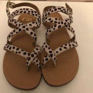 Animal print GB Sandals. Size 6